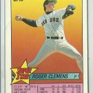 1989 Topps Super Star Roger Clemens No. 25 Mini