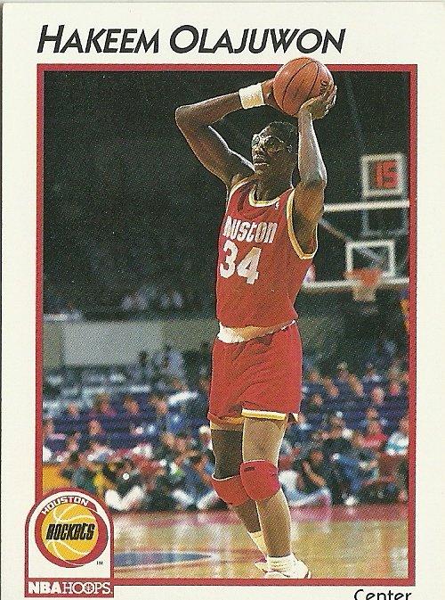 1991 NBA Hoops Hakeem Olajuwon No. 16