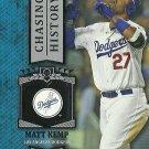 2013 Topps Chasing History Matt Kemp No. CH-22
