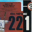 2007 Topps Road To 500 Alex Rodriguez No. ARHR221