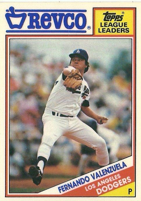 1988 Topps Revco Fernando Valenzuela No. 14
