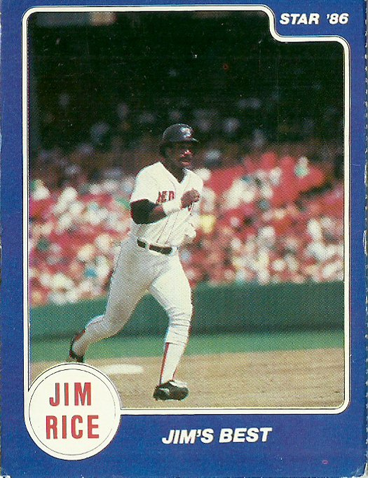1986 Star Jim Rice No. 10