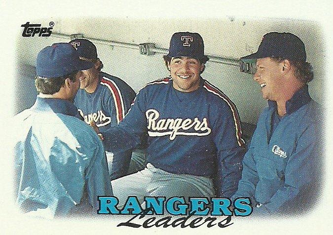 1988 Topps Texas Rangers No. 201