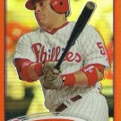 2012 Topps Chrome Carlos Ruiz No. 212 Orange Refractor