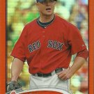 2012 Topps Chrome Jon Lester No. 6 Orange Refractor