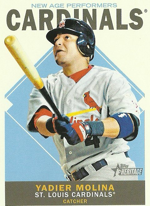 2013 Topps Heritage New Age Performers Yadier Molina No. NAP-YM