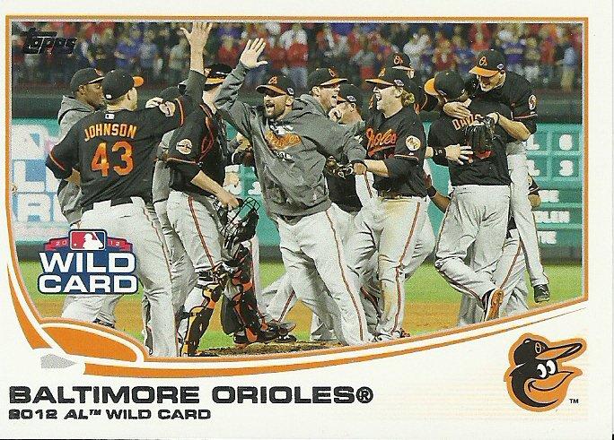 2013 Topps Baltimore Orioles No. 317