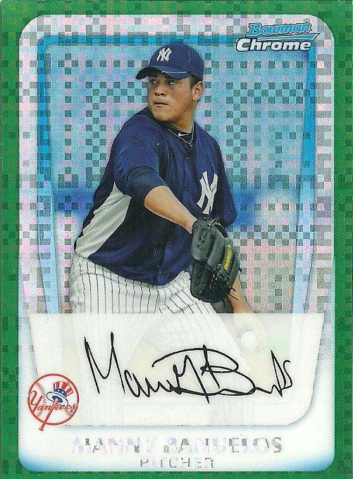 2011 Bowman Chrome Prospects Manny Banuelos No. BCP133 RC Green Refractor