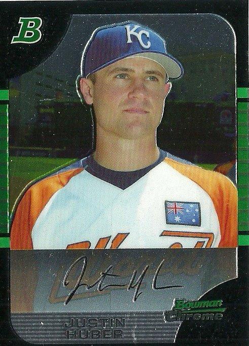 2005 Bowman Chrome Draft Picks Justin Huber No. BDP156 RC