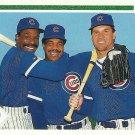 1991 Upper Deck Ryne Sandberg, Andre Dawson, George Bell No. 725