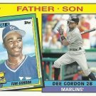 2016 Topps Archives Father & Son Tom Gordon, Dee Gordon No. FS-GGO