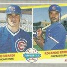 1989 Fleer Joe Girardi, Rolando Roomes No. 644 RC
