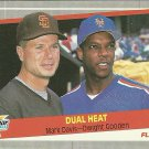 1989 Fleer Mark Davis, Dwight Gooden No. 635