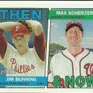 2016 Topps Heritage Jim Bunning, Max Scherzer No. TAN-BS