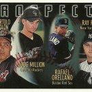 1996 Topps Bartolo Colon, Doug Million, Rafael Orellano, Ray Ricken No. 428 RC