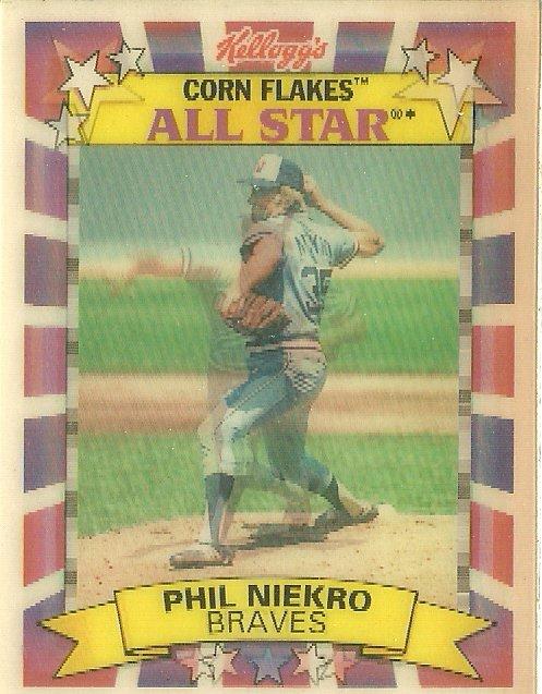1992 Kelloggs Corn Flakes All Star Phil Niekro No 6 Of 10