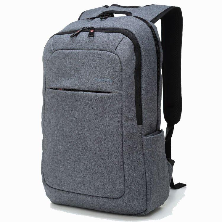 Slim Business Laptop Backpack Anti Thief Tear / Water Resistant Travel Bag