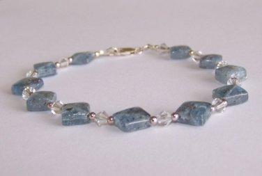 Kyanite Crystal Bracelet handmade by Sapphire Rain Designs