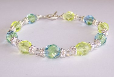 Sunny Skies Bracelet handmade beaded bracelet by Sapphire Rain Designs