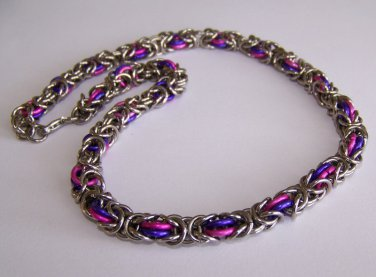Chainmaille Necklace 101 handmade by Sapphire Rain Designs