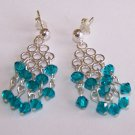 Zircon Crystal Dangle Earrings handmade beaded earrings by Sapphire Rain Designs
