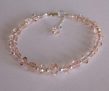 Crystal Silk Bracelet handmade beaded bracelet by Sapphire Rain Designs