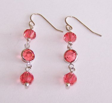 Crystal Links Dangle Earrings handmade beaded earrings by Sapphire Rain Designs