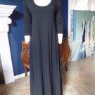 Soft Surroundings Black 3/4 Sleeve Jersey Maxi Dress MP