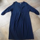 NWT LANDS END Navy 3/4 Sleeve Stretch Sheath Dress 1X