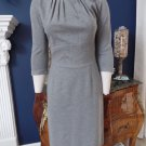 TRINA TURK Gray 3/4 Sleeve Lace Hem Sheath Dress 6