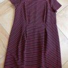 NWT TALBOTS Pink/Black Striped Short Sleeve Sheath Dress 16W