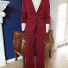 LIMITED Brick Red 3/4 Ruched Sleeve Blazer And Cassidy Fit Pant Suit 6R S