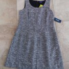 NWT ELOQUII Black/White Light Summer Tweed Sheath Dress 14W