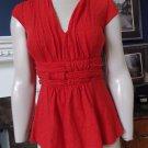 Anthropologie ETTTWA Red Empire Waist Sleeveless Stretch Jersey Top Shirt S