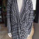 MARC BOUWER Printed  DOLMEN SLEEVE Tunic Top Blouse Shirt L