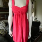 BLACK HALO Hot Pink 100% Silk Empire Waist Dress S