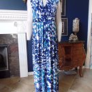 CHICO'S Blue Printed Sleeveless Maxi Dress 3