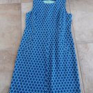LANDS END Blue/Green Printed Sleeveless Ponte Sheath Dress 16T