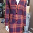 NWT THE LIMITED Plaid  Blazer & Pencil Skirt Suit XS 2