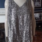 NWOT Talbots Grey Sequins Sleeveless Tank Top Shirt Blouse 14W