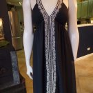 NWT MAX AND CLEO Black Gold Embroidered Halter Cocktail Dress 4
