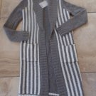 NWT SPARKLE & FADE Open Front Wool Blend Duster Longer Leng Cardigan Sweater XS