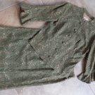 VINTAGE 60's CAROL CRAIG Olive Green Lace Blazer And A Line Skirt Suit S/M