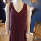 NWT SOFT SURROUNDINGS Plum Lace Trim Sleeveless Cami Tunic Top Shirt M