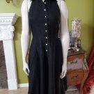 NWT LAUREN RALPH LAUREN Black Linen Halter Fit & Flare Dress 6