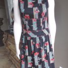 KAY UNGER Printed 100% Cotton Fit & Flare Sheath Dress 6