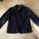 RALPH LAUREN Navy Cargo Safari Removable Lining Jacket Coat L