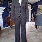 J Crew Brown 100% Wool Blazer & City Fit Dress Pant Suit 2