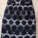 BANANA REPUBLIC Black/White Polka Dot 100% cotton Pencil Skirt 00