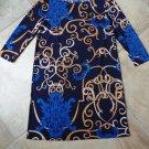 TIBI Printed Stretch Jersey Shift Dress M